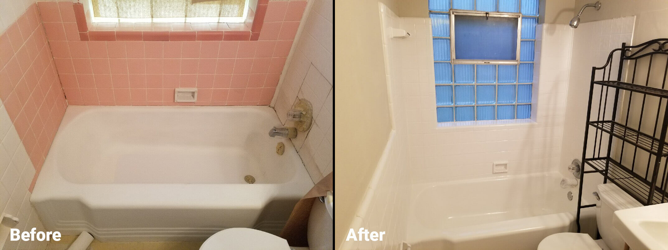 Bathtub Refinishing Before and After